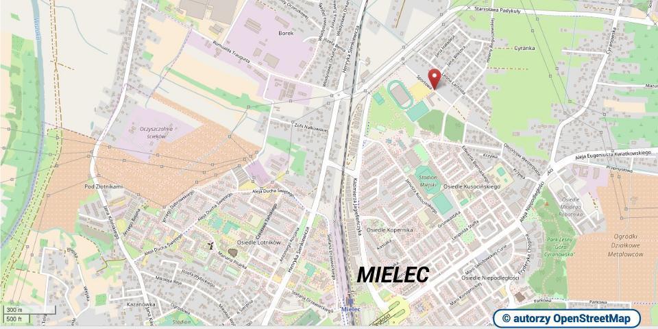 lokalizacja AutoMobilKlubu w Mielcu