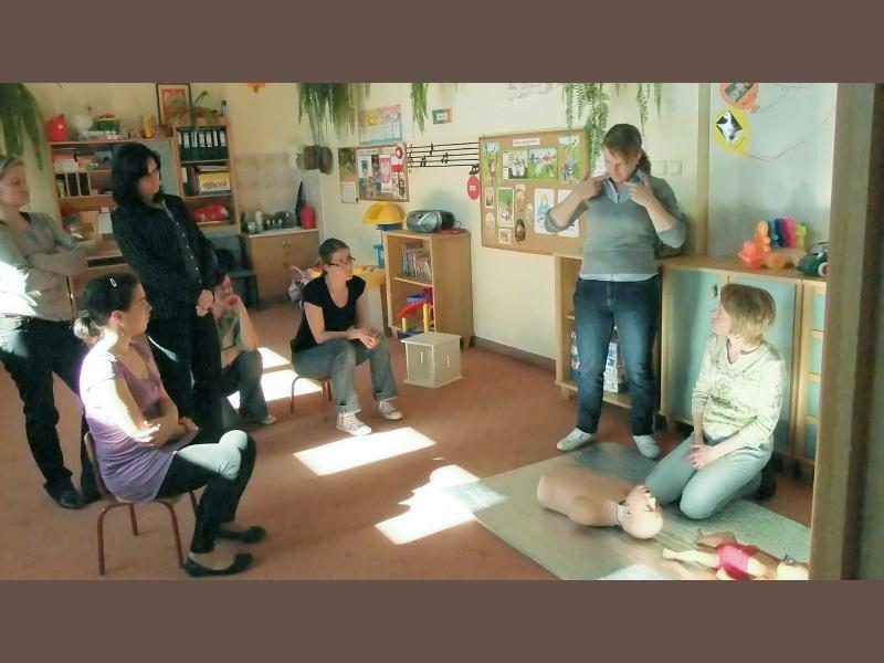 foto -Warsztaty szkoleniowe w przedszkolu.