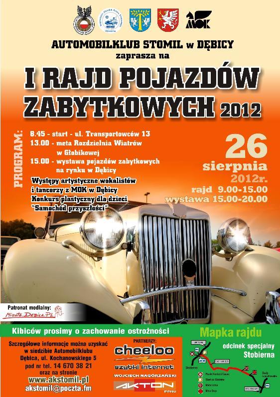foto -Zaproszenie na I Rajd Pojazdów Zabytkowych w Dębicy.