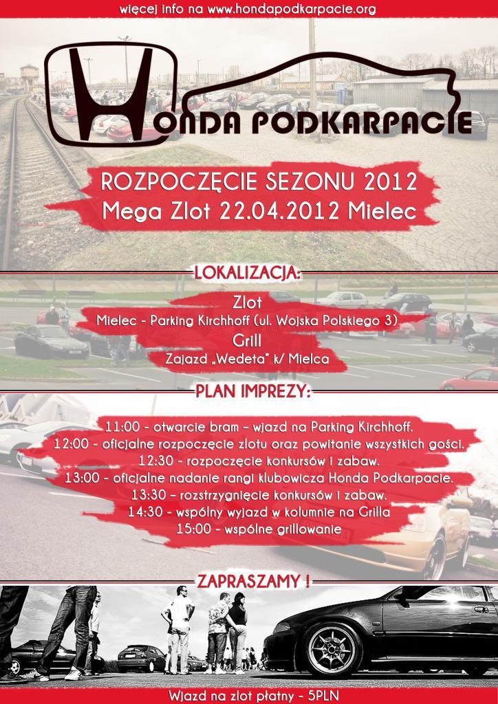 foto -Honda Mega Zlot 22.04.2012 Mielec - Rozpoczęcie sezonu 2012