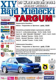 Fotografia do artykułu Informacja w sprawie imprezy samochodowej KJS 21 wrzesień 2014r   XIV Rajd Mielecki TARGUM