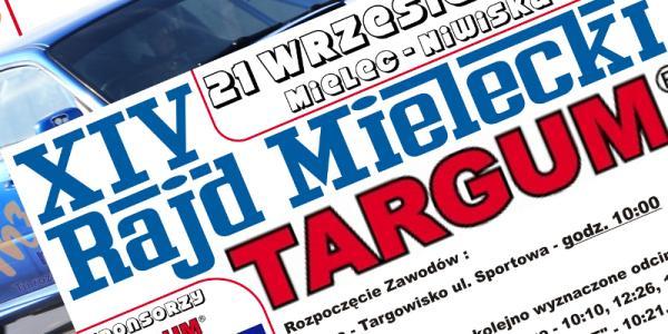 Informacja w sprawie imprezy samochodowej KJS 21 wrzesień 2014r   XIV Rajd Mielecki TARGUM