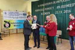 foto artykuł - VI Powiatowa Olimpiada Pierwszej Pomocy Przedmedycznej w Powiecie Mieleckim.