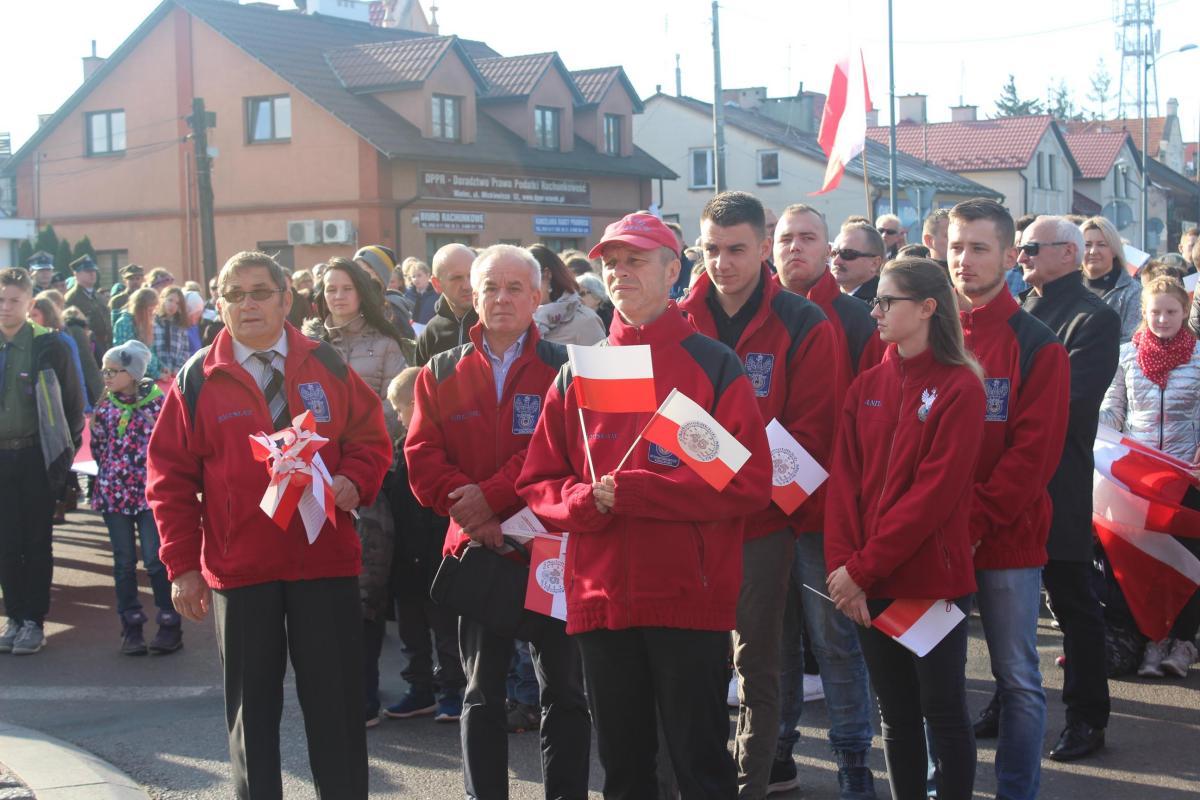 foto -Wspólne Mielczan świętowanie. 100 lat odzyskania Niepodległości.