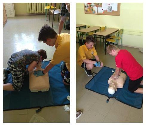 foto -Pierwsza pomoc w klasie VI c