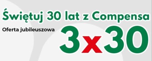 "foto -Compensa jubileuszowa oferta ""3 x 30"""