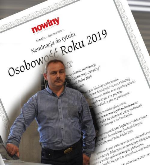foto -Osobowość roku 2019. Piotr Molak kandydatem  w plebiscycie Nowin.